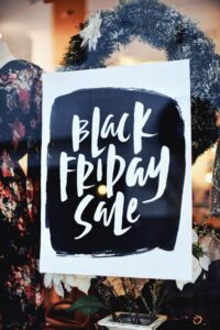 black friday sale window sign