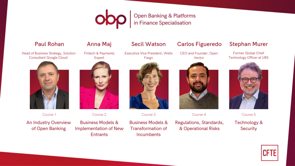 Open Banking and Platforms online specialisation by CFTE