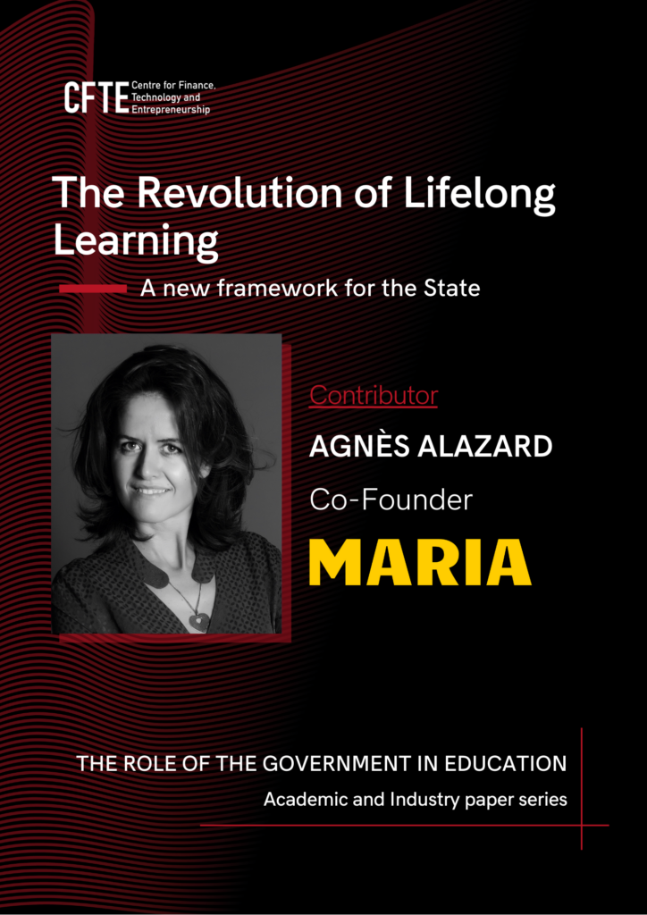 Agnès Alazard, Co-Founder of Maria Schools contributes to the paper - 'The role of the Government in Education'