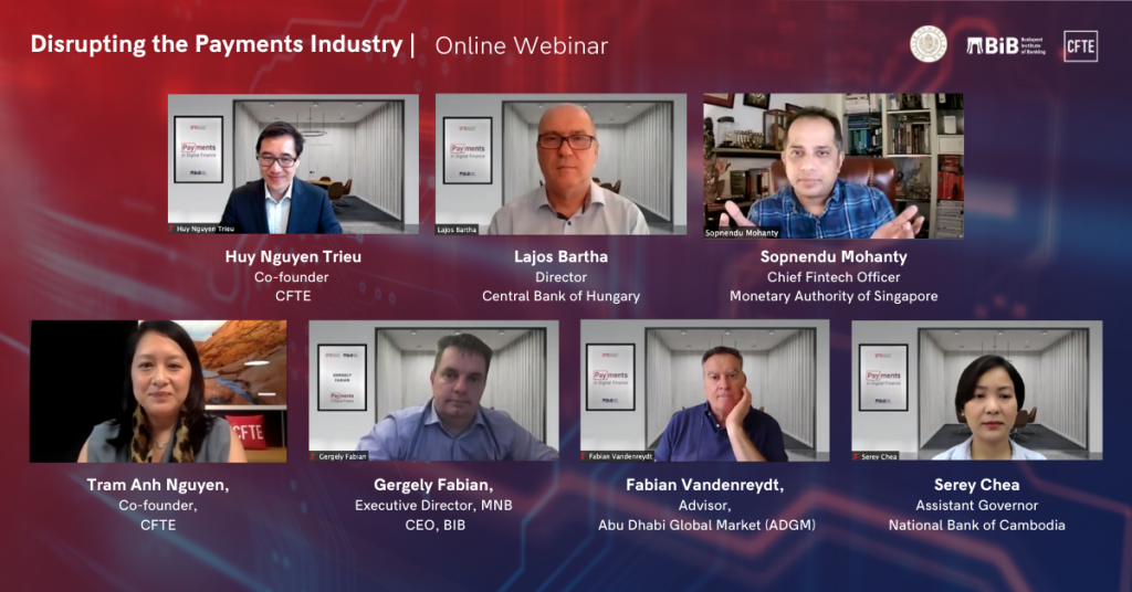 Disrupting the Payments Industry - Online Webinar by CFTE, MNB and BIB