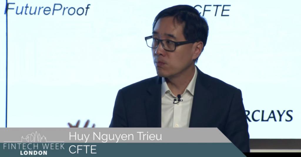 Huy Nguyen Trieu at Fintech Week London 2021